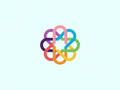 BoldMedia Logo Variation.   logo media bold vector illustration branding mark symmetric design colors