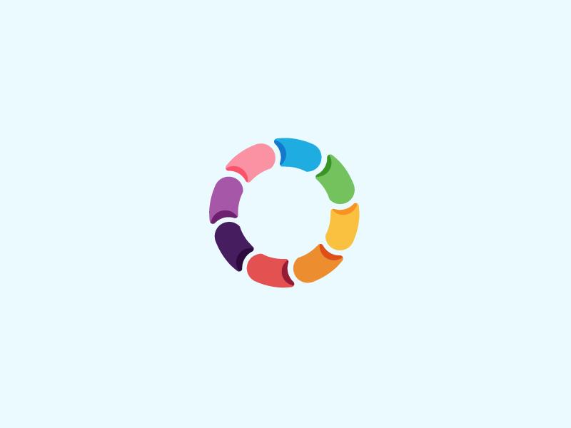 Icon wip.  icon color colors happy load bar loading fun logo branding