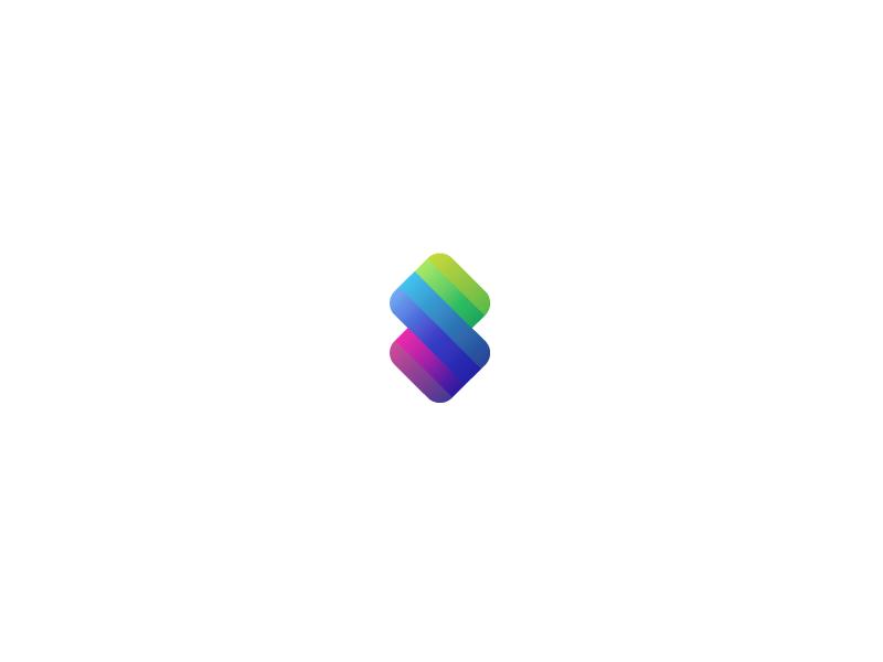 S. p chip s mark logo identity branding letter lettering shield fold card