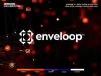 Enveloop - Logo Design ✉️ negative space design motion branding tool campaign digital animation loop mail logo design logo envelope
