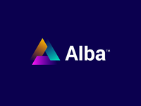 Alba - Logo Design gradient logo visual identity strategic usa tech branding creative logo logo design logo invest build capital community shapes shift buidling homes estate real alba