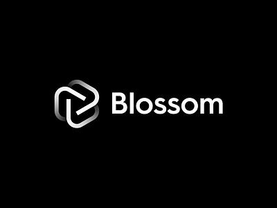 Blossom - Logo Design b logo letter monogram monogram agency freelance designer digital designer hexagon creative logo logo design logo design loop infinity studio brand life grow flower blossom
