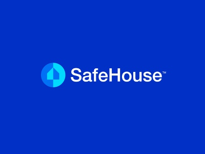 SafeHouse - Logo Design 🛡️ brand identity design identity wordmark branding badge house protect shield creative logo logo design logo smart home security app secured home safe house security secure safety safe