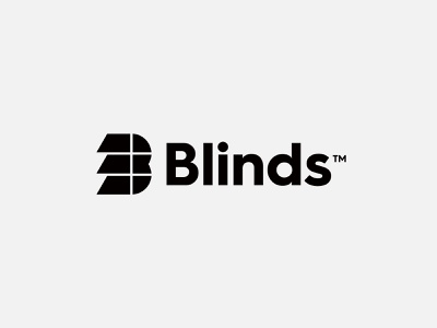 Blinds - Logo Design web identity symbol lettermark creative logo smart logo shadow shade branding logo design logo monogram b shutter window blinds