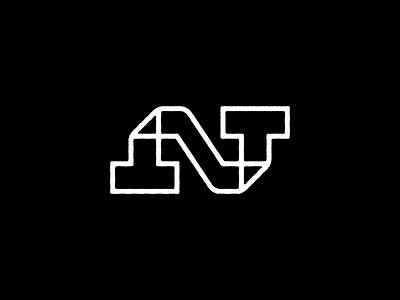 NT Ambigram branding creative logo line lettermark monogram logo ambigram nt