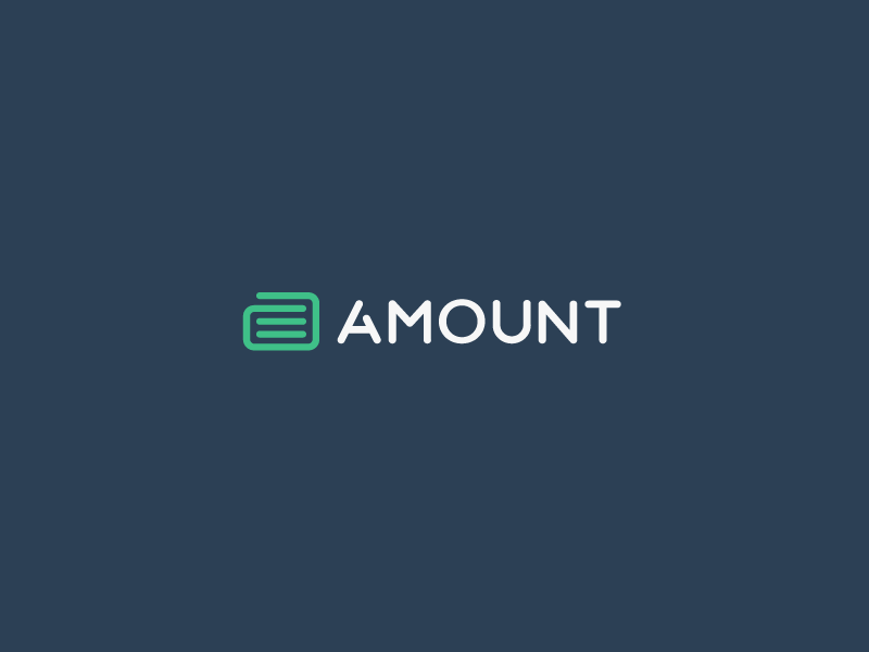 Amount Logo Design.  amount loan company share trust finance stock up numbers a coins