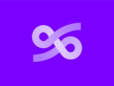 S Swirl - Logo concept 🌀 visual identity branding purple gradient creative logo logo design lettermark swirl logo s