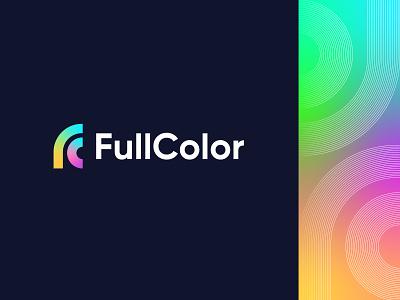 FullColor - Logo Concept (FC Monogram) creative studio startup logo symbol logo mark visual identity design identity design branding creative logo full color gradient colors letter lettermark monogram logo monogram