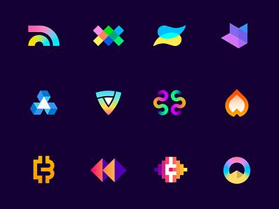 Pre-made Cryptocurrency logos gradient blockchain startup symbol design logo design branding modern logo logofolio portfolio future depth futuristic creative logo crypto logo cryptocoin crypto currency cryptocurrency crypto