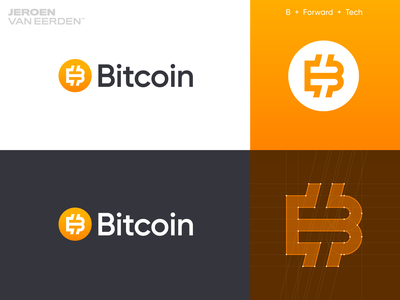 Bitcoin - Logo redesign ₿ v3 logo update creative logo logo designer illustrator vector fintech finance gradient startup redesign logo logo design crypto currency cryptocurrency crypto monogram b coin btc bitcoin