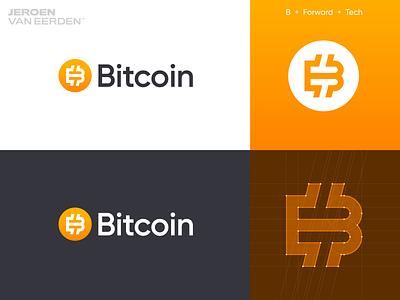 Bitcoin - Logo redesign ₿ v3 logo update creative logo logo designer illustrator vector fintech finance gradient startup redesign logo logo design crypto currency cryptocurrency crypto monogram b coin btc bitcoin