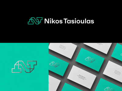 Nikos Tasioulas - Logo Design letter monogram design t n monogram freelance digital designer visual identity design creative logo logo design logo nikos