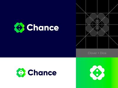 Chance - Logo Design ☘️ o p q r s t u v w q y z a b c d e f g h i j k l m n clover crypto online bet lucky casino gamble logo chance