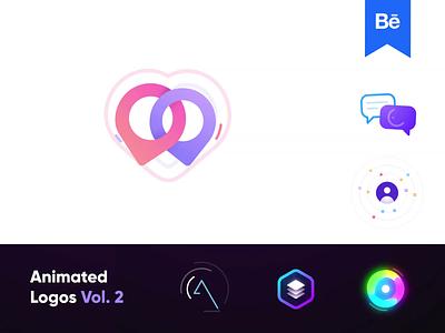 Animated Logos Vol. 2 - Béhance Project behance branding creative logo dating app trill logos logo logofolio o p q r s t u v w x y z a b c d e f g h i j k l m n animation animated