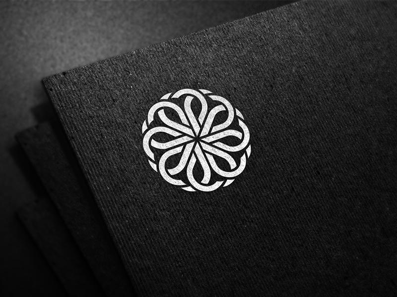 Emblem. print emblem graphic glyph digital art line infinity symmetry fossil brand logo