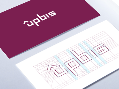 Upbis Logo Construction. up bis upbis logo mark icon shade branding network social