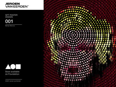 NFT Poster Collection 001 - Monroe digital art digital design andy warhol pop art withfoundation foundation nft nftart marilyn monroe monroe