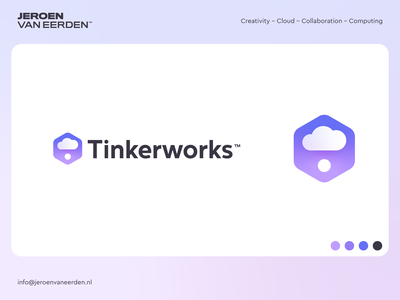 Tinkerworks - Logo Design v4 tech computing creativity creative thought cloud identity logo tinker works tink
