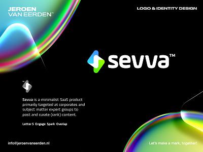 Sevva - Logo Design / Part 2⚡️ saas interact smart chart arrow overlap rate electric 3d abstract symbol logo branding spark bolt s platform social service sevva