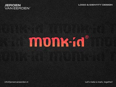 Monk-id - Logo Wordmark Concept service talk idea id mockup texture letter design brand identity design branding identity design lettering logo wordmark focus zen monk