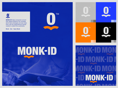 MONK-ID - Logo Proposal book open book zen calm letter monogram wordmark symbol monk branding visual identity design brand identity logo design logo