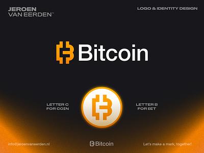 Bitcoin ₿ - Logo Redesign (unofficial) monogram coin money finance cryptocurrency logo concept visual identity design identity design logo mark symbol crypto bitcoin branding logo