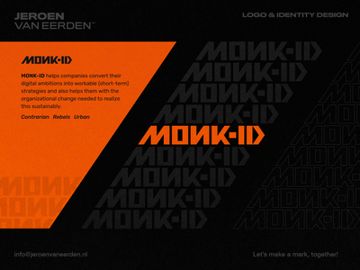 Monk-ID - Logo Wordmark Proposal symbol organize visual identity branding identity design logo wordmark letter design abstract strategy opposite rebellion rebel logo wordmark
