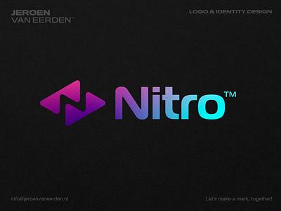 RTL Nitro Now - Logo Redesign Proposal ▶️ online show broadcast tv service stream fluent texture gradient logo trend modern logo future negative space logo n branding visual identity design identity logo rtl nitro