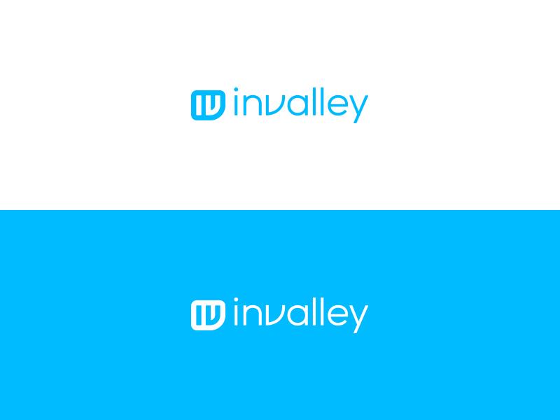 Invalley. invalley logo branding mark icon monogram lettering light crisp