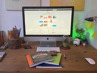 My Workplace (where the magic happens) work office design creative lettering books portfolio mario organize pencil