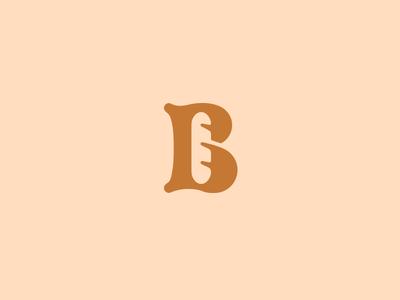 B for Bakery.  b monogram bake bakery bread letter lettering