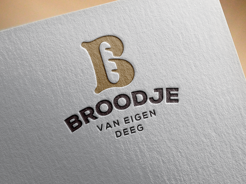 Bakery identity on print. graphic mockup b monogram bake bakery bread letter lettering burger baguette