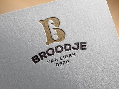 Bakery identity on print. graphic mockup b monogram bake bakery bread letter lettering burger baguette