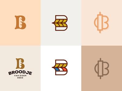 Identity proposals - B for Bakery bakery b bake grain corn bread monogram letter french france