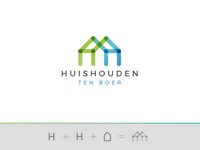 Huishouden Ten Boer  h hh monogram house holding household householding services identity gradient lettering