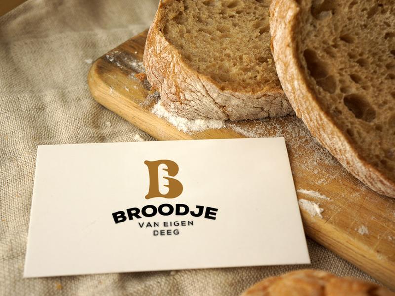 Business Card for Bakery. business card baker bakery bread dough bake b letter lettering branding