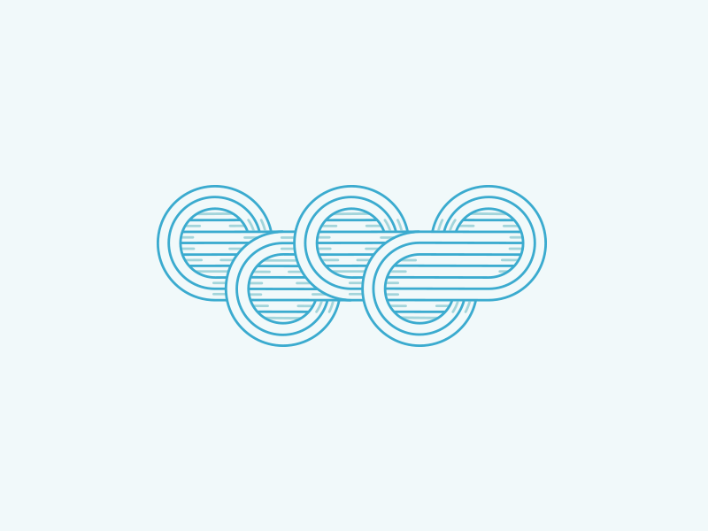 Dribbble Playoff olympics rings circles sport sports tribute overlap yoga lines