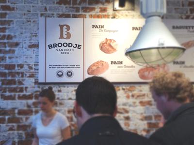Broodje van eigen deeg = Open!  branding logo patisserie baguette monogram b baker bake bakery dough bread broodje