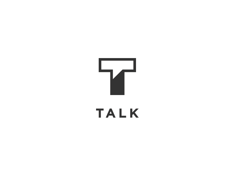 Talk noise people mark monogram icon media social communicate chat talk letter t