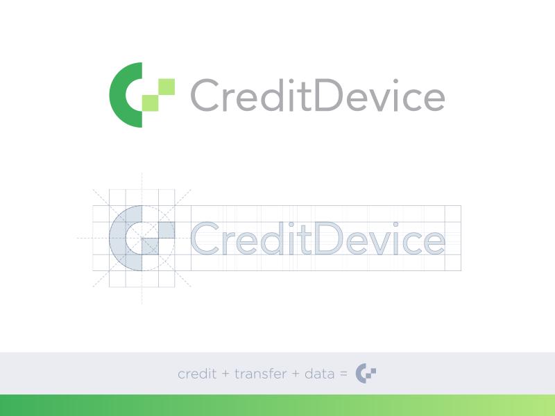 CreditDevice Identity Concept finance credits c icon logo modern abstract minimal symbol device credit