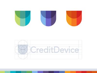 CreditDevice pattern finance credits grid icon logo modern abstract minimal symbol device credit