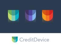 Creditdevice Identity. brandmark gems finance credits grid icon logo modern abstract minimal symbol credit