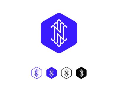 N Monogram - #1 identity symmetry symmetric branding logo hexa hexagram n monogram