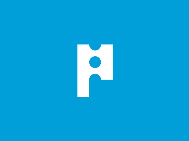P Monogram icon identity lettering letter monogram smart p