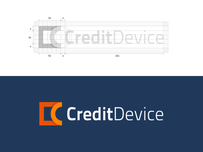 CreditDevice consultant advice credits management business money identity logo device credit