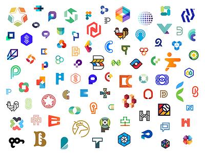 Logo Portfolio monogram logo branding identity work creative 2015 2014 2013 roundup portfolio