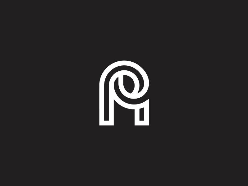 AP Monogram letter lettering branding identity logo monogram ap p a