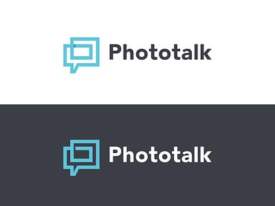 Phototalk identity monogram refined branding logo media social repeat communicate chat icon talk photo