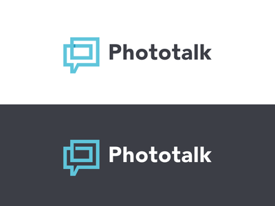 Phototalk identity monogram refined branding logo media social repeat communicate chat icon talk photo