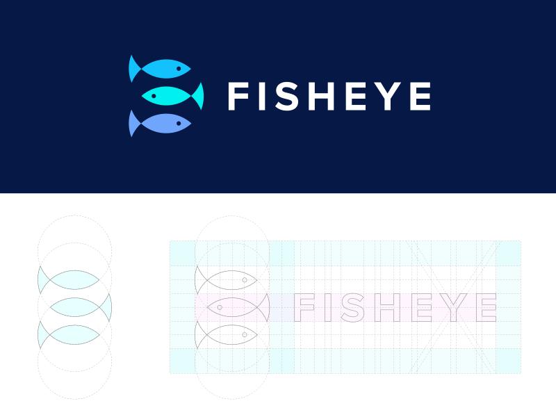 Fisheye Media negativespace grid bubble effect fisheye identity logo corporate productions media eye fish